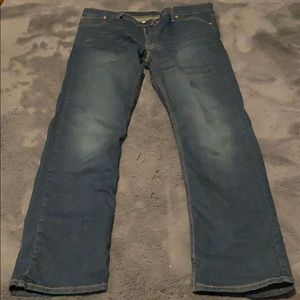 Men's Levi dark blue jeans
